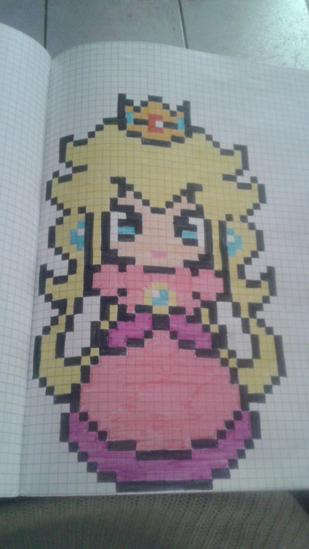 Pixel art page 23 - Comment dessiner peach ...