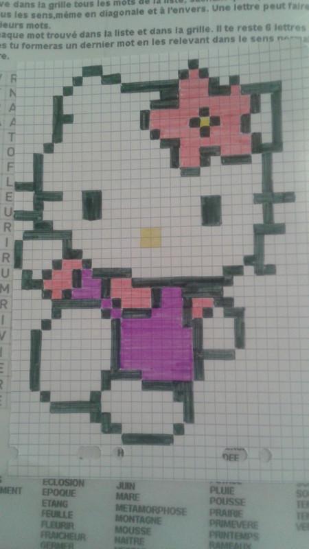 Pixel Art Hello Kitty Noel