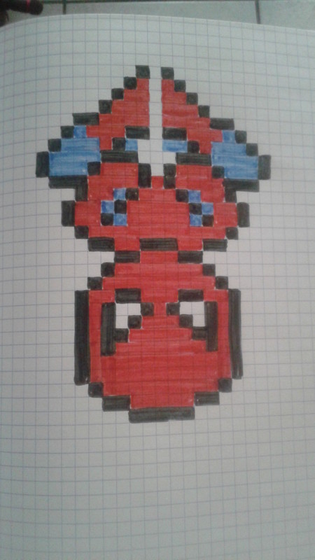 Pixel art page 10 - Dessin spiderman facile ...