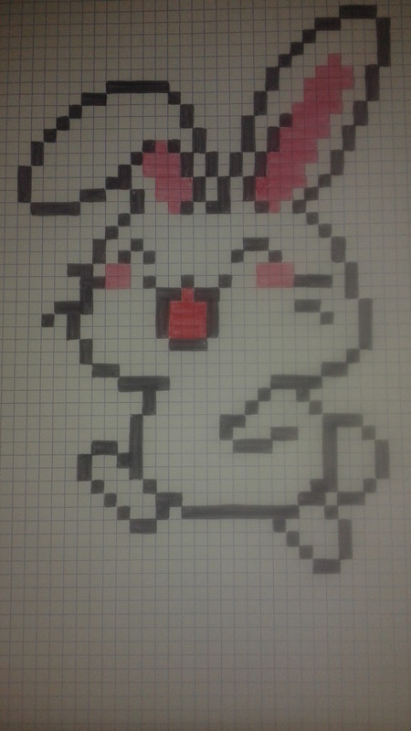 Pixel Art Facile Animaux Lapin