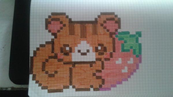 Pixel Art Panda Roux Facile