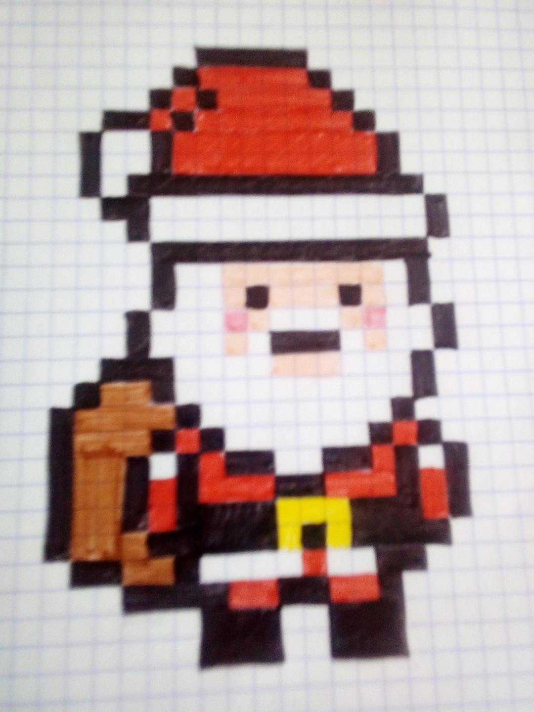 Pere Noel Pixel Art